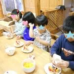 2013年こどもの日☆春の山菜とセルフサービスケーキデコ再び♪