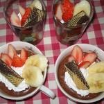 おすすめ簡単バレンタインレシピ♪【カステラ入り☆チョコレートムース】の作り方
