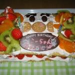 ケーキ型いらず♪オーブンの天板で焼く超簡単デコレーションケーキ☆