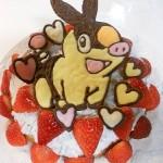 手作りでも簡単☆キャラクターデコチョコ付きポケモンアイスクリームケーキの作り方♪
